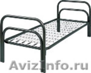 металлические кровати для строителей, одноярусные, двухъярусные кровати оптом - Изображение #3, Объявление #691862
