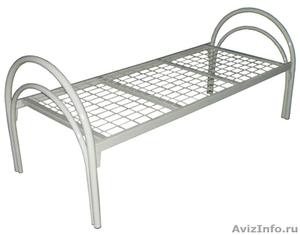 металлические кровати для строителей, одноярусные, двухъярусные кровати оптом - Изображение #1, Объявление #691862