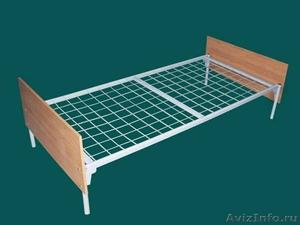 металлические кровати для строителей, одноярусные, двухъярусные кровати оптом - Изображение #5, Объявление #691862