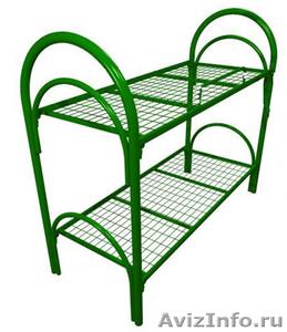 металлические кровати для строителей, одноярусные, двухъярусные кровати оптом - Изображение #2, Объявление #691862