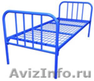 металлические кровати для строителей, одноярусные, двухъярусные кровати оптом - Изображение #6, Объявление #691862