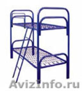 кровати для турбаз, кровати железные, кровати для бытовок кровати для вагончиков - Изображение #1, Объявление #902892