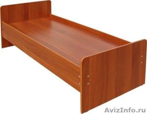 Двухъярусные железные кровати, для казарм, металлические кровати с ДСП спинками. - Изображение #3, Объявление #1480285