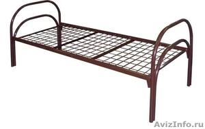 Кровати металлические с ДСП спинками, кровати одноярусные и двухъярусные. оптом - Изображение #4, Объявление #1479525