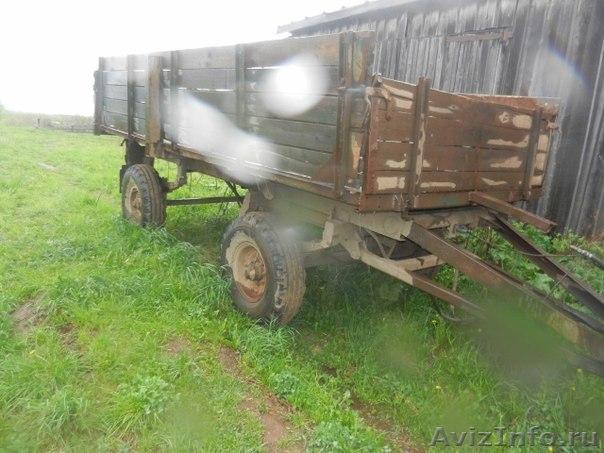 Самодельная тракторная телега для перевозки сена фото.